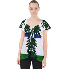 Flag Of Cascadia Lace Front Dolly Top