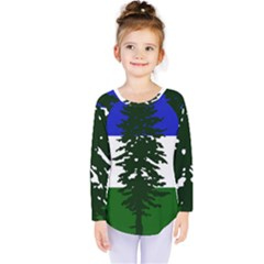 Flag Of Cascadia Kids  Long Sleeve Tee