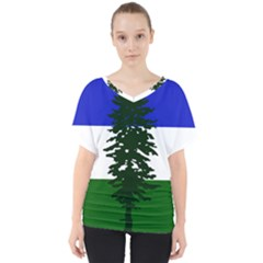 Flag Of Cascadia V Neck Dolman Drape Top