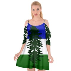 Flag Of Cascadia Cutout Spaghetti Strap Chiffon Dress