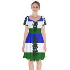 Flag Of Cascadia Short Sleeve Bardot Dress