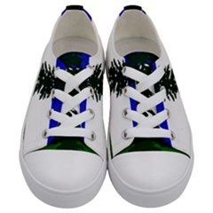 Flag Of Cascadia Kids  Low Top Canvas Sneakers