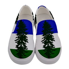Flag Of Cascadia Women s Canvas Slip Ons