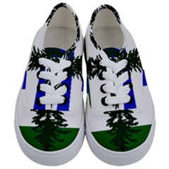 Flag Of Cascadia Kids  Classic Low Top Sneakers