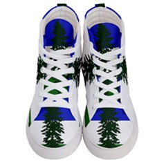 Flag Of Cascadia Men s Hi Top Skate Sneakers