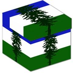 Flag Of Cascadia Storage Stool 12