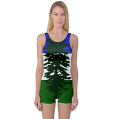 Flag Of Cascadia One Piece Boyleg Swimsuit