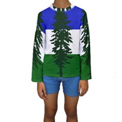 Flag Of Cascadia Kids  Long Sleeve Swimwear
