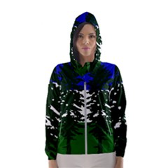 Flag Of Cascadia Hooded Wind Breaker (women)