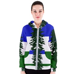 Flag Of Cascadia Women s Zipper Hoodie