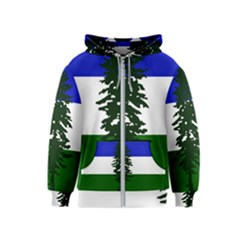 Flag Of Cascadia Kids  Zipper Hoodie