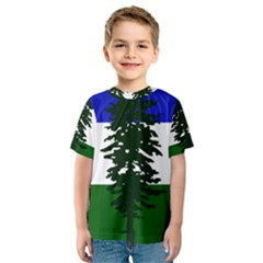 Flag Of Cascadia Kids  Sport Mesh Tee