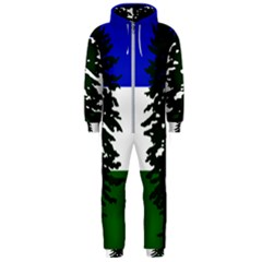Flag Of Cascadia Hooded Jumpsuit (men)