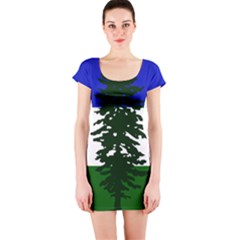 Flag Of Cascadia Short Sleeve Bodycon Dress