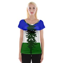 Flag Of Cascadia Cap Sleeve Tops
