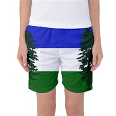 Flag Of Cascadia Women s Basketball Shorts