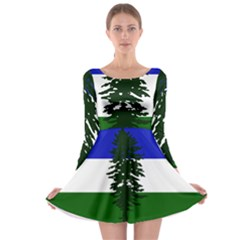 Flag Of Cascadia Long Sleeve Skater Dress