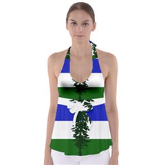 Flag Of Cascadia Babydoll Tankini Top
