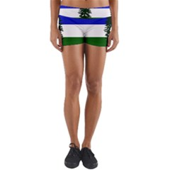 Flag Of Cascadia Yoga Shorts