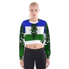 Flag Of Cascadia Cropped Sweatshirt