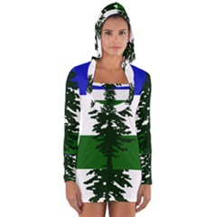 Flag Of Cascadia Long Sleeve Hooded T Shirt
