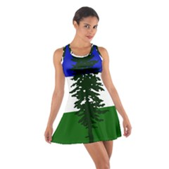 Flag Of Cascadia Cotton Racerback Dress