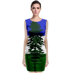 Flag Of Cascadia Classic Sleeveless Midi Dress