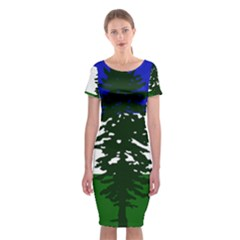 Flag Of Cascadia Classic Short Sleeve Midi Dress