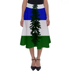 Flag Of Cascadia Perfect Length Midi Skirt