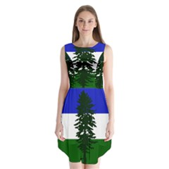 Flag Of Cascadia Sleeveless Chiffon Dress