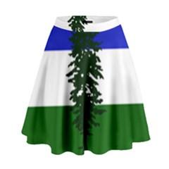 Flag Of Cascadia High Waist Skirt