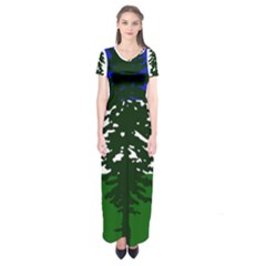 Flag Of Cascadia Short Sleeve Maxi Dress