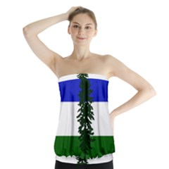 Flag Of Cascadia Strapless Top
