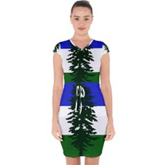 Flag Of Cascadia Capsleeve Drawstring Dress