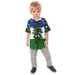 Flag Of Cascadia Kids Raglan Tee