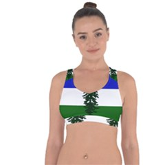 Flag Of Cascadia Cross String Back Sports Bra