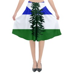 Flag Of Cascadia Flared Midi Skirt