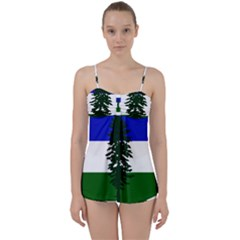 Flag Of Cascadia Babydoll Tankini Set