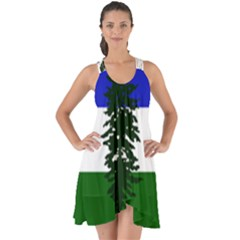 Flag Of Cascadia Show Some Back Chiffon Dress