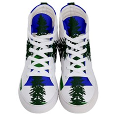 Flag Of Cascadia Women s Hi Top Skate Sneakers
