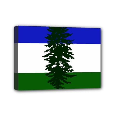 Flag 0f Cascadia Mini Canvas 7  X 5
