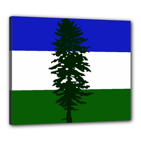 Flag 0f Cascadia Canvas 24  X 20