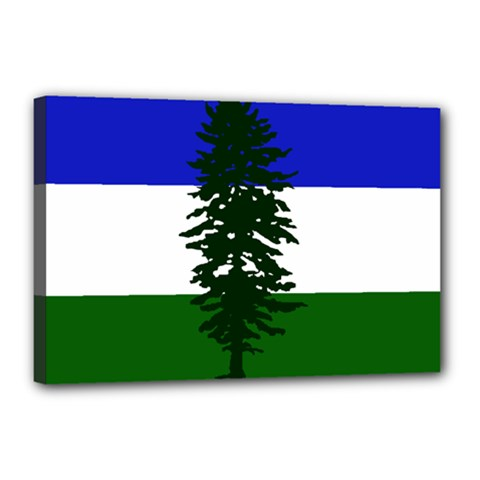 Flag 0f Cascadia Canvas 18  X 12