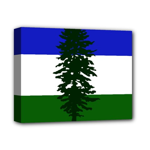 Flag 0f Cascadia Deluxe Canvas 14  X 11