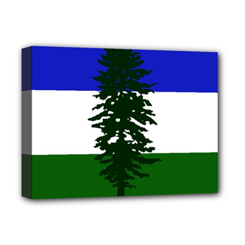 Flag 0f Cascadia Deluxe Canvas 16  X 12