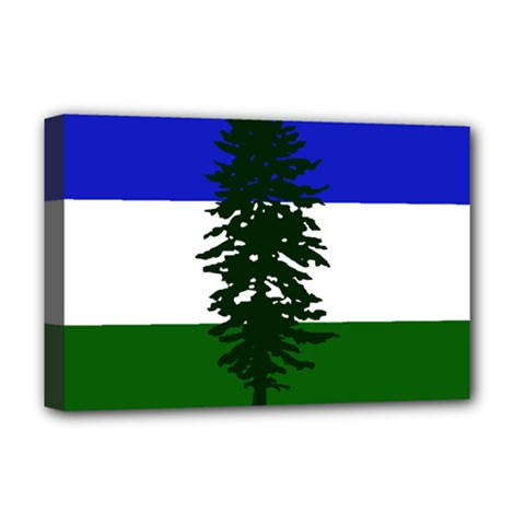 Flag 0f Cascadia Deluxe Canvas 18  X 12