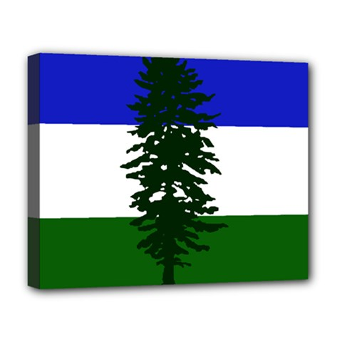 Flag 0f Cascadia Deluxe Canvas 20  X 16