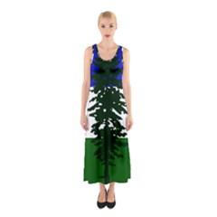 Flag 0f Cascadia Sleeveless Maxi Dress