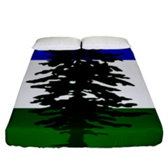 Flag 0f Cascadia Fitted Sheet (king Size)