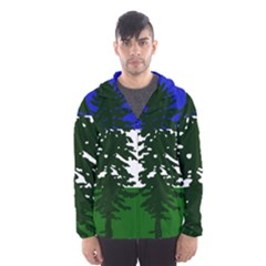 Flag 0f Cascadia Hooded Wind Breaker (men)
